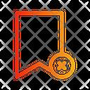 Bookmark Decline Icon