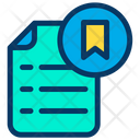 Bookmark Document Icon