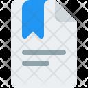 Bookmark File Tag Icon