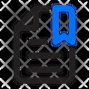 Document Favorite Bookmark Icon