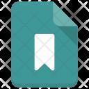 Bookmark File Paper Icon