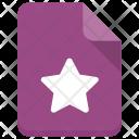 Star File Bookmark Icon
