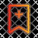 Bookmark plus Icon