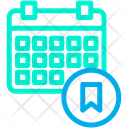 Bookmark Schedule Icon