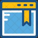 Website Webpage Bookmark Icon