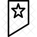 Tag Star Bookmark Icon