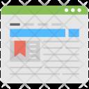 Online Bookmark Bookmarked Icon