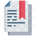 Bookmarked Document Saved Note Icon