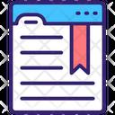 Bookmarking Bookmark Webpage Icon