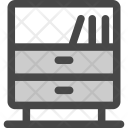 Books Cabinet Drawers Icon