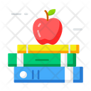 Books Healthy Reading Book And Apple Icon