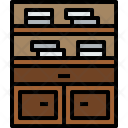 Bookself Furniture House Icon