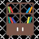 Bookshelf Shelf Cupboard Icon