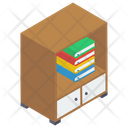Bookshelf Book Rack Library Icon
