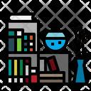 Book Bookshelf Furniture And Household Icon