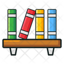Book Rack Bookshelf Library Book Icon