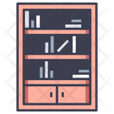 Bookshelf Library Book Icon