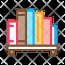 Bookshelf Library Learning Icon
