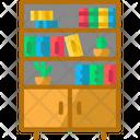 Bookshelf Books Cabinet Icon