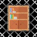 Bookshelf Furniture Interior Icon