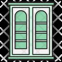 Bookshelf Bookcase Interior Icon