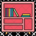 Bookcase Bookshelf Drawer Icon