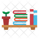 Bookshelf Plant Book Icon