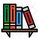 Bookshelf Book Library Icon