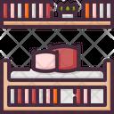 Bookshelf Decoration Furniture Icon