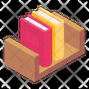 Bookshelf Bookrack Book Arrangement Icon