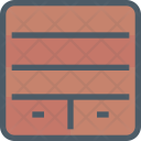 Bookshelf Furniture Icon