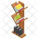 Bookshelf Book Rack Library Icon