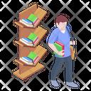 Books Rack Library Bookshelf Icon