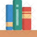 Bookshelf Library Books Icon