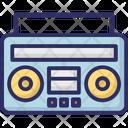 Boombox Cassette Player Cassette Recorder Icon