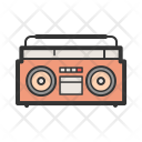 Boombox Player Cassette Icon