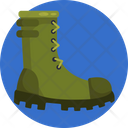 Boot Footwear Army Icon