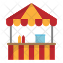 Booth Amusement Park Carnival Icon