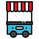 Food Cart Booth Icon
