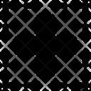 Border Content Inside Icon