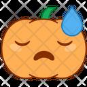 Bored Tired Pumpkin Icon