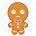 Dull Face Gingerbread Icon