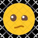 Boring Emoji Face Icon