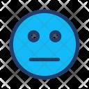 Boring Face Smiley Icon