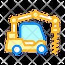 Crane Boring Machine Color Icon