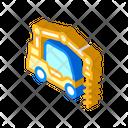 Crane Boring Machine Isometric Icon