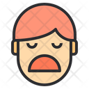 Boring Emotion Face Icon