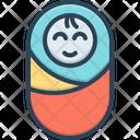 Born Baby Blanket Icon