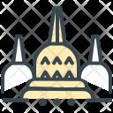 Borobudur Dome Structure Icon