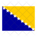 Bosnia And Herzegovina Flag Flags Icon